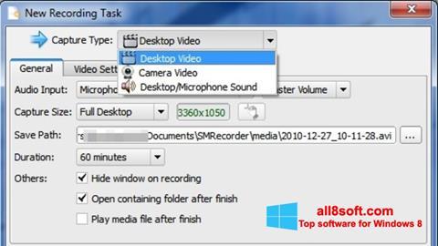 Captură de ecran SMRecorder pentru Windows 8